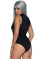 Leg Avenue High Neck Spandex Keyhole Bodysuit With Zipper