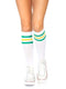 Leg Avenue Classic Athletic Striped Knee High Socks