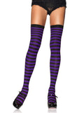 Leg Avenue Nylon Striped Thigh High Stockings