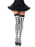 Leg Avenue Opaque Harlequin Thigh High Stockings