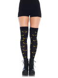 Leg Avenue Spooky Eyes Printed Opaque Thigh Highs