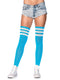 Leg Avenue 3-Stripe Athletic Ribbed Thigh High Socks