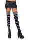 Leg Avenue Distressed Opaque Striped Costume Thigh Highs