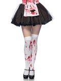 Leg Avenue Bloody Zombie Thigh High Stockings