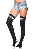 Leg Avenue Ribbed Athletic Thigh High Socks