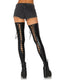 Leg Avenue Wet Look Footless Lace Up Thigh Highs