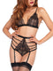 Leg Avenue 2-Piece Sweetheart Bra and High Waist Thong Garter Panty