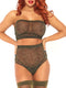 Leg Avenue 2-Piece Lurex Shimmer Bandeau Top and High Waist Thong Set
