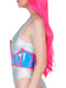 Leg Avenue Holographic Vinyl Zipper Front Under Bust Cincher