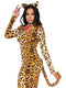 Leg Avenue 3-Piece Leopard Print Cougar Catsuit Costume Set