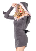 Leg Avenue Cozy Shark dress w/shark fin detail and shark teeth hood