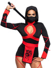 Leg Avenue 3-Piece Dragon Ninja Romper Costume Set With Mask