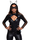 Leg Avenue 4-Piece Wicked Kitty Zip Up Catsuit With Utility Belt