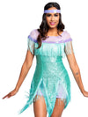 Leg Avenue 2-Piece Foxtrot Flirt Sequin Flapper Costume Set