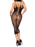 Lattice Body Con Dress