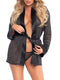 Leg Avenue Shimmer Lurex Robe and G-String Lingerie Set