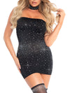 Leg Avenue 2-Piece Spandex Rhinestone Tube Dress and Choker Set