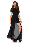 Leg Avenue Sheer High Slit Maxi Dress