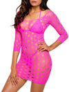 Leg Avenue Seamless Neon Pothole Mini Dress With ¾ Sleeves
