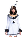 Leg Avenue 3-Piece Pierrot Clown Circus Mini Dress Costume