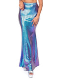 Leg Avenue Teal Iridescent Scale Mermaid Maxi Skirt