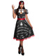 Leg Avenue 2-Piece Spooky Board Beauty Costume Swing Dress