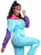 Leg Avenue 2-Piece Awesome 80s Zipper Track Suit With Sweatband