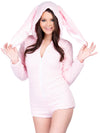 Leg Avenue Cuddle Bunny Ultra Soft Bodysuit With Ear Hood