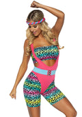 Leg Avenue 4-Piece 80s Cardio Cutie Costume Set With Headband