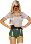 Leg Avenue 2-Piece Hot Cop Police Trooper Costume Set