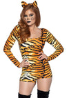 Leg Avenue 2-Piece Wild Tigress Romper Costume Set