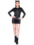 Leg Avenue Rhinestone Skeleton Mini Dress