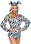 Leg Avenue Darling Dalmatian Ultra Soft Romper With Hood