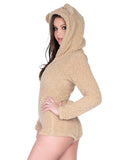Leg Avenue Teddy Bear Ultra Soft Bodysuit With Ear Hood