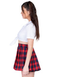 Leg Avenue 2-Piece Classic Plaid School Girl Costume