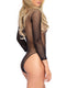 Leg Avenue Fishnet High Neck Long Sleeved Bodysuit