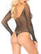 Leg Avenue Rhinestone Long Sleeved Fishnet Bodysuit
