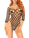 Leg Avenue Pothole Net Sleeve Bodysuit