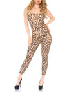 Leg Avenue Sheer Leopard Footless Bodystocking
