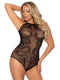Leg Avenue Snake Net Snap Crotch Bodysuit