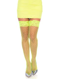 Leg Avenue Spandex Industrial Net Stockings With Lace Top