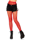 Leg Avenue Flame Pattern Net Fishnet Tights