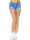 Leg Avenue Rainbow Striped Fishnet Tights