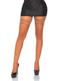 Leg Avenue Stay Up Lace Top Micro Net Thigh Highs