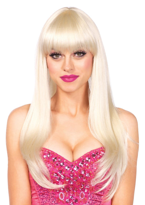 "Leg Avenue 25"" Bangin Long Straight Costume Wig With Bangs"