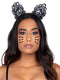 Leg Avenue Venice Lace Cat Ears Headband With Organza Bows