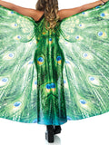 Leg Avenue Peacock Feather Halter Wing Cape with Extension