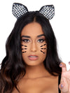 Leg Avenue Metallic Studded Cat Ears Headband
