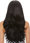 "Leg Avenue 27"" Long Wavy Center Part Black Costume Wig"
