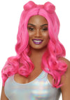 "Leg Avenue 24"" Long Beachy Waves Wig With Half Up Buns"